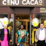 Leamington Mayor Cllr Susan Rasmussen opens luxury chocolate store